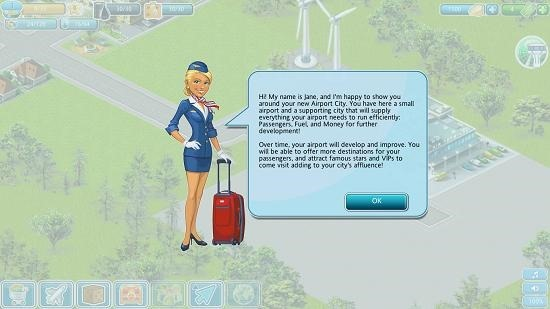 Airport City main screen