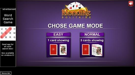 Klondike Solitaire   choose difficulty