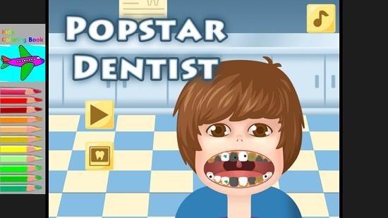 Little Big Dentist main menu