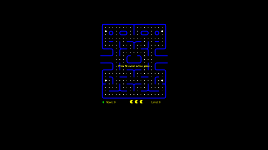 PACMAN CRAZE Main screen