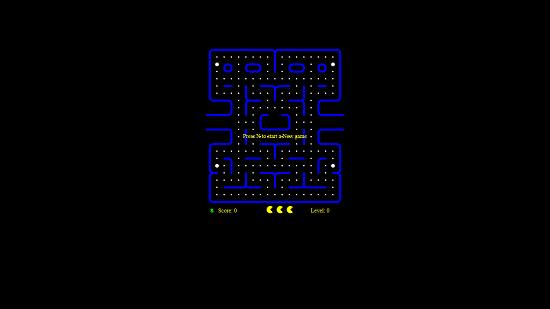 PACMAN CRAZE Main screen
