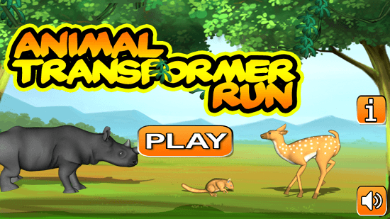 Animal Transformer Run Main Screen