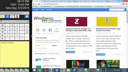 Calculator, Clock, and Gadgets App for Windows 8   Windows 8