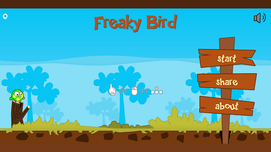 Freaky Bird main screen