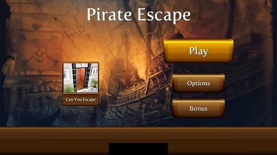 Pirate Escape Main Screen