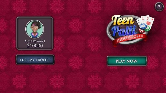 Teen Patti Poker main screen