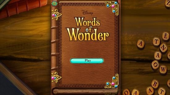 Disney Words of Wonder main menu