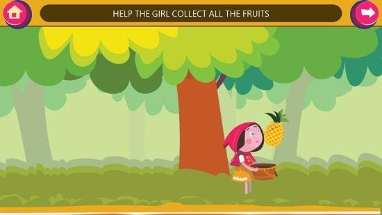 GS Kids! Toddler games hanging fruit