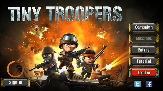 Tiny Troopers Main Menu