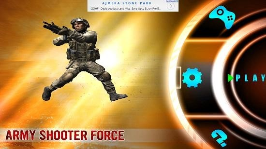 Army Shooter Force Main Screen