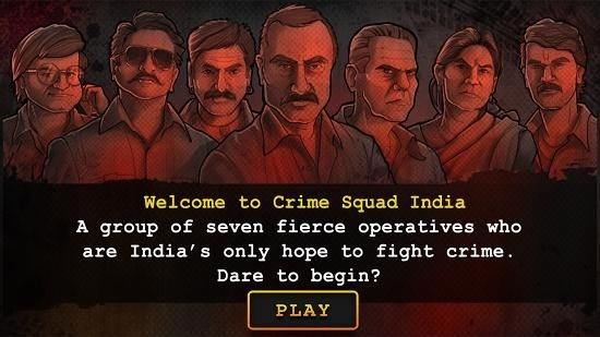 Crime Squad India main screen