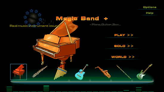 Magic Band   Main menu