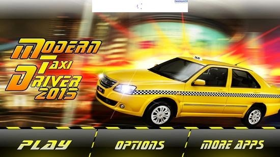 Modern Taxi Driver 2015 main screen