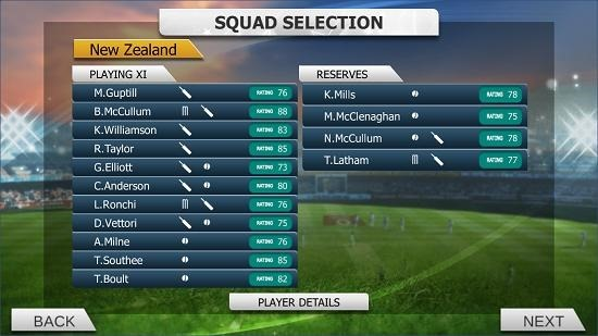 Real Cricket 15 set team