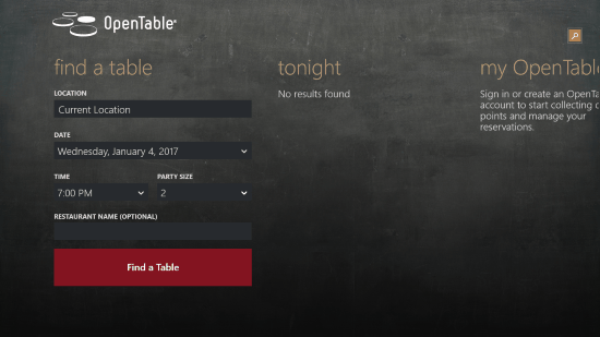 Free Open Table App For Windows Windows Freeware - Restaurant table app