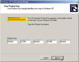 product key windows xp professional service pack 2 version 2002