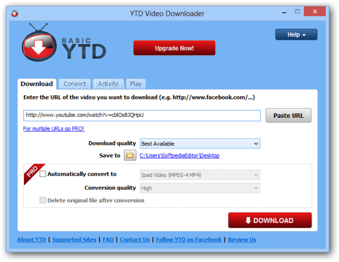 ytd downloader pro key