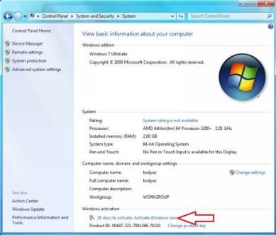 Windows 7 Ultimate Product key 2002