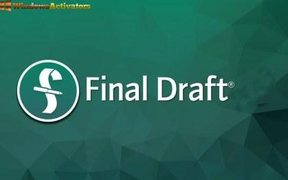 Final Draft latest version crack