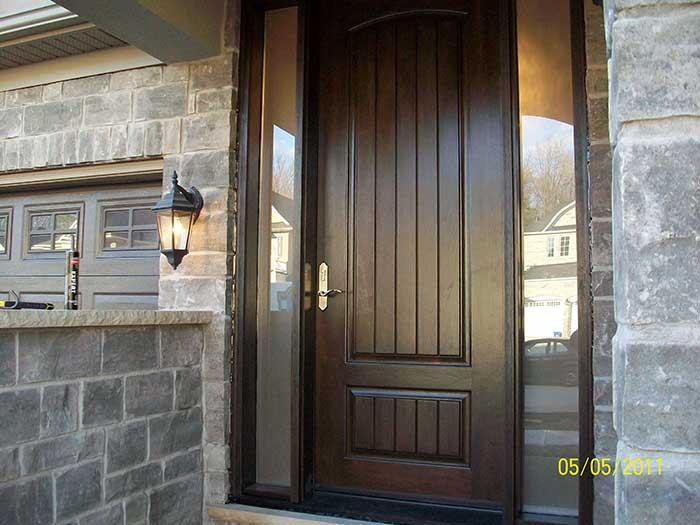 Fiberglass DoorsFront Entry DoorsModern DoorsWoodgrain