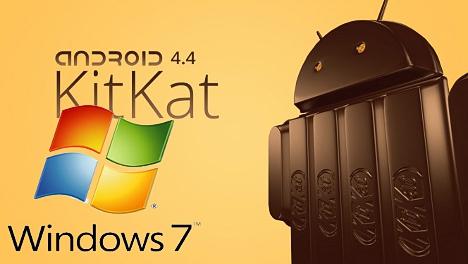 KitKat Android 4.4 en Windows 7