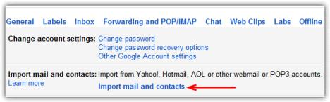inportar contactos en Gmail