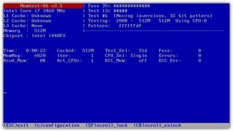 Error en RAM