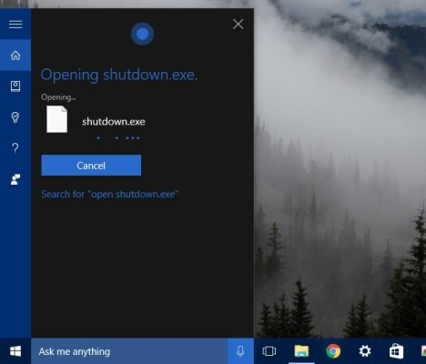Truco apagar PC con Cortana de Windows 10