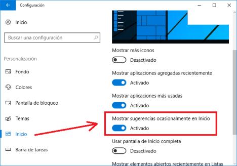 Eliminar publicidad excesiva de Windows 10