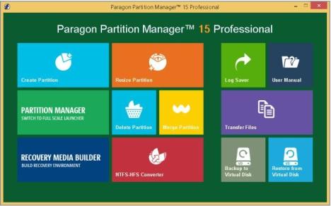 Gestionar Particiones con Paragon Partition Manager