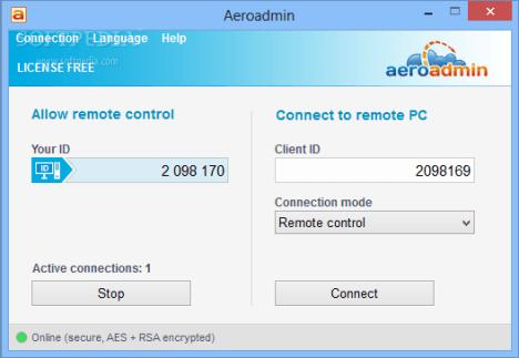Controlar un PC con AeroAdmin