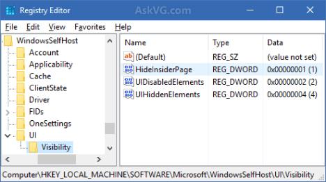 Desactivar Programa Windwos insider