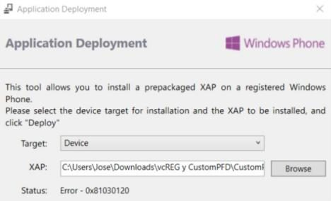 Instalar CustomPFD en Windows 10 Mobile