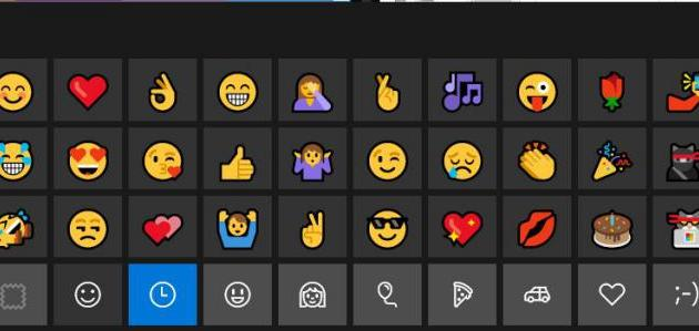 Emojis en Windows 10