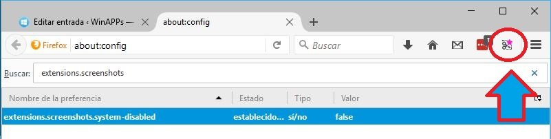 ScreenShot en Firefox
