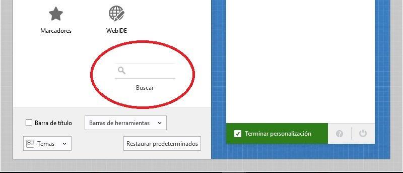 barra de direcciones en Firefox