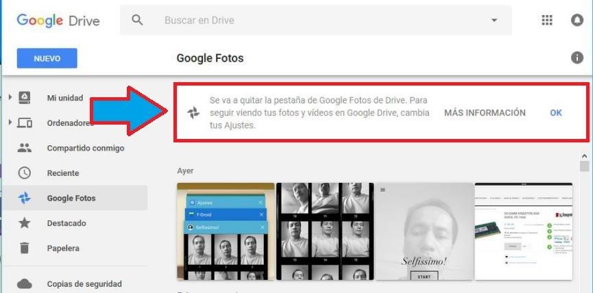Recuperar Google Fotos en Drive