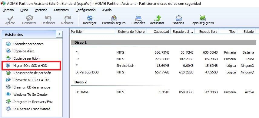 migrar Windows 10 a SSD
