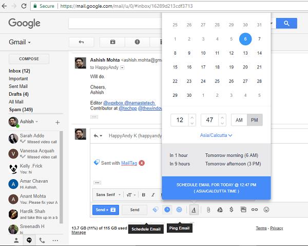 programar envio de email con MailTag