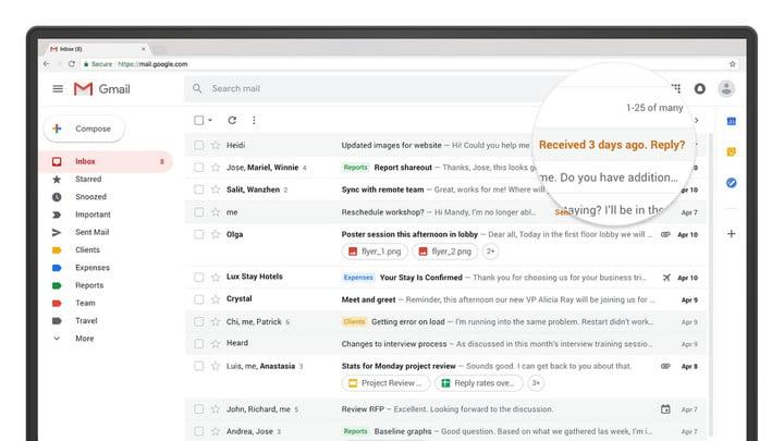 Empujones de Gmail con respuestas urgentes