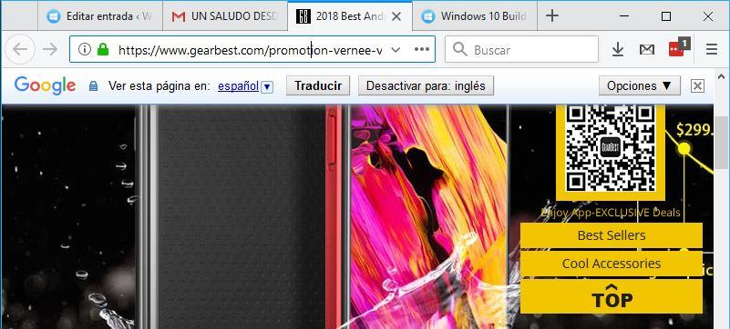 Vista de Lectura en Firefox