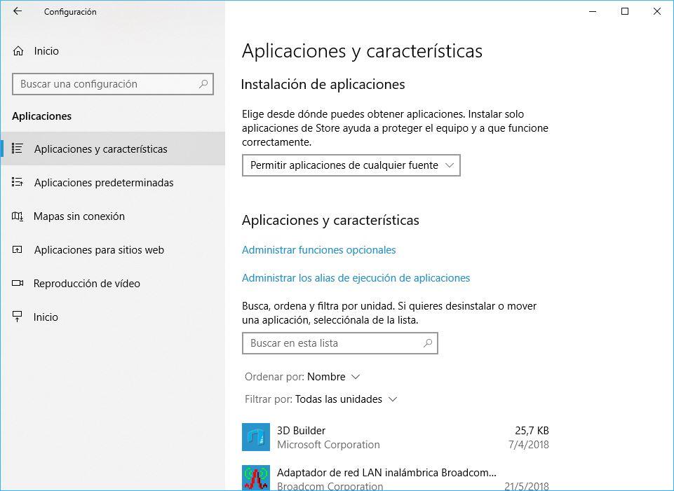 Windows 10 Build 1803 Permisos