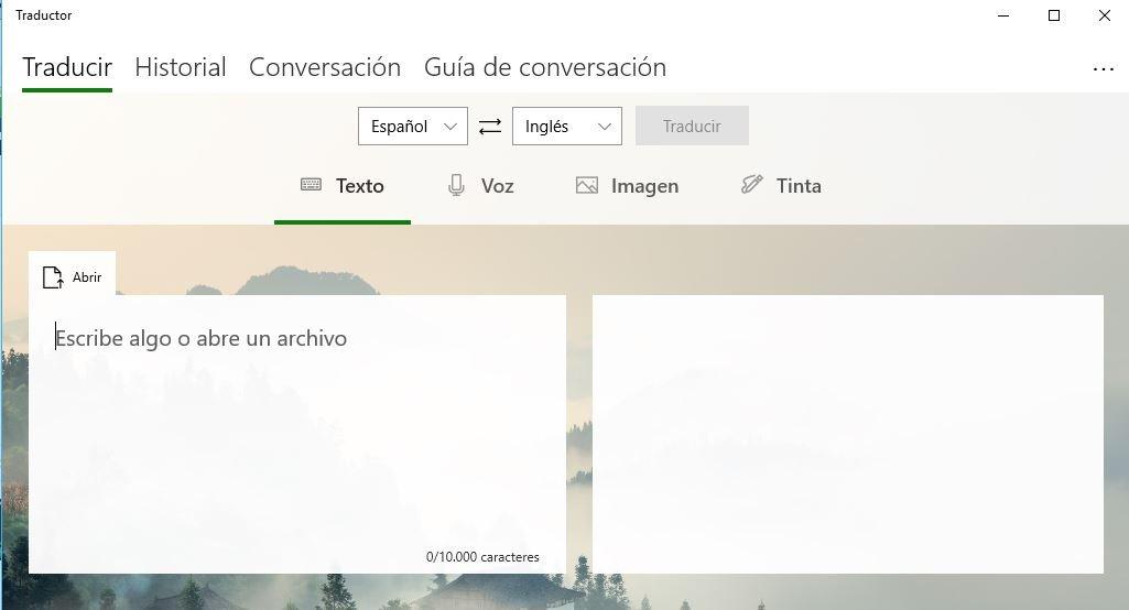 traductor de Microsoft en Windows 10