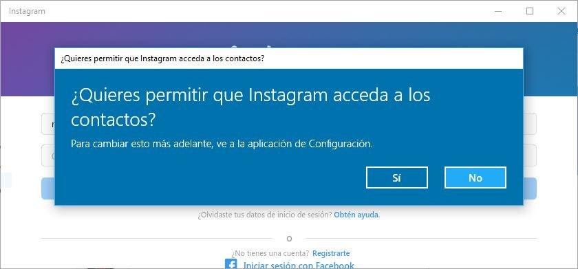 mensajes en Instagram de Windows 10