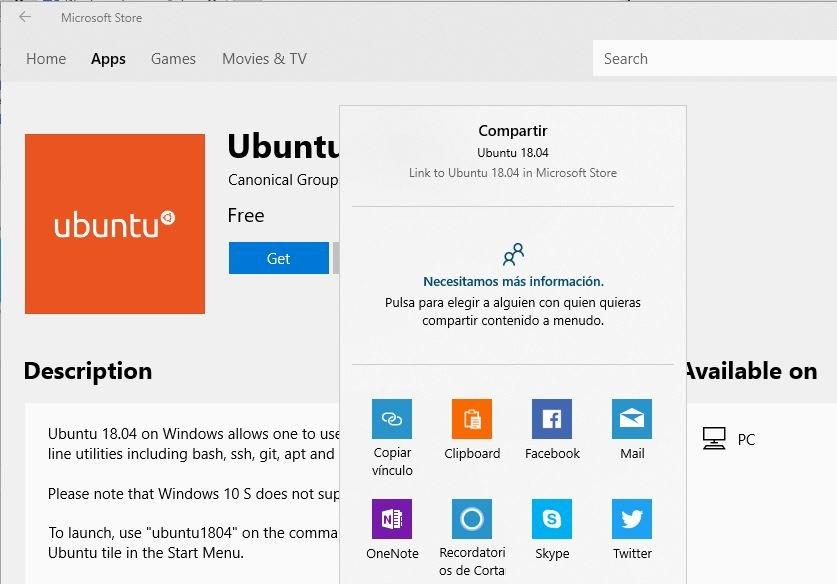 Compartir aplicaciones en Microsoft Store
