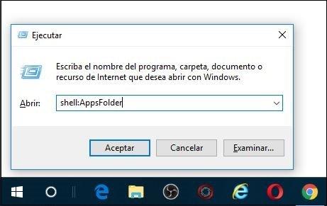 Mostrar aplicaciones instaladas en Windows 10