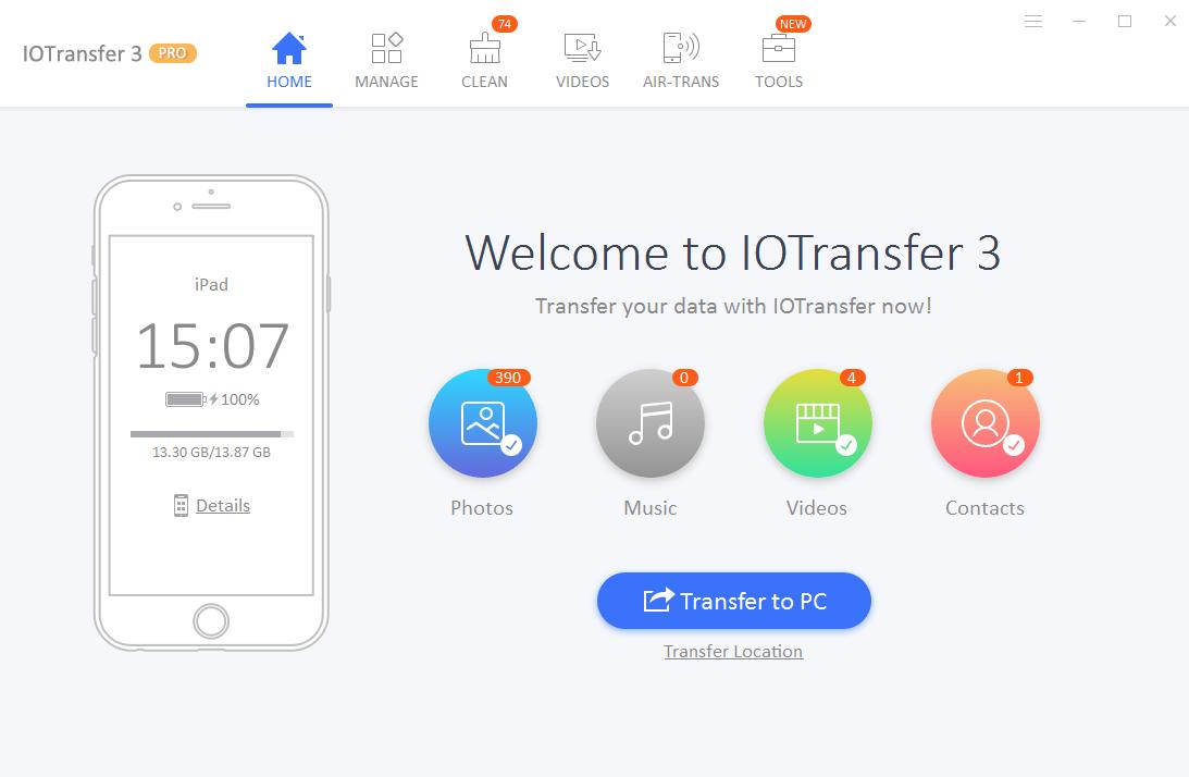 IOTransfer en Windows 10