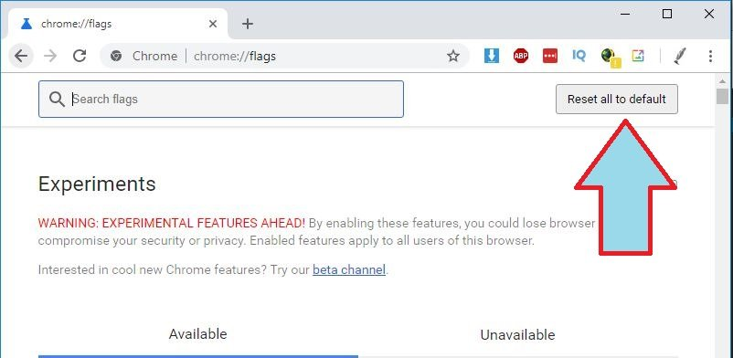 Twitch no Carga chrome extensiones experimentales