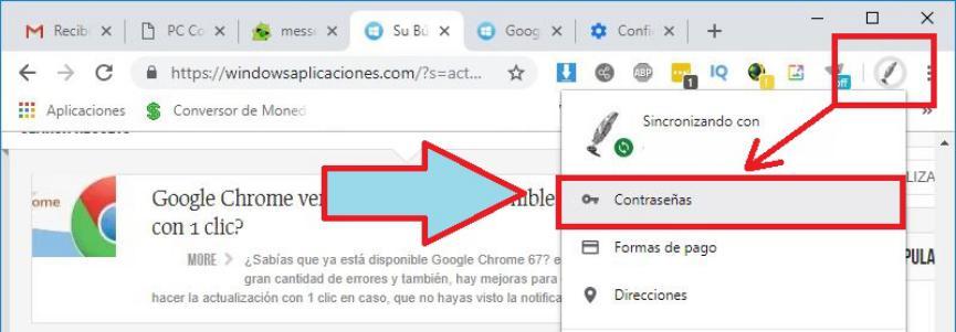 Claves Guardadas en Chrome