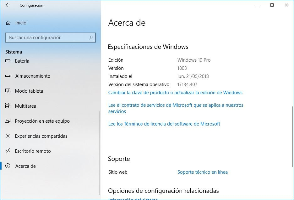 Windows 10 Build 1809